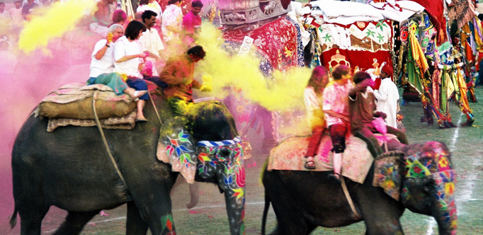 Holi festival of colour with Tour Guide & Driver
