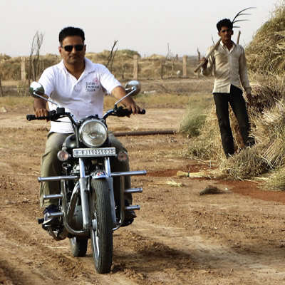 Riding the Royal Enfield motorcycle tour