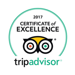 Trip Advisor - Certificate of Excellence 2016-2017