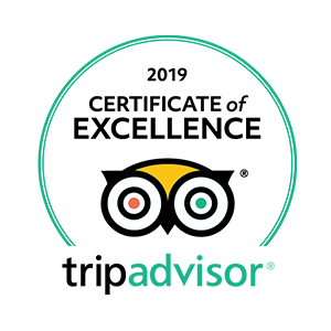 Trip Advisor - Certificate of Excellence 2016-2019